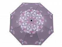 Damen Regenschirm faltbar Blumen