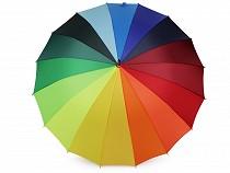 Dámsky vystreľovací dáždnik dúha