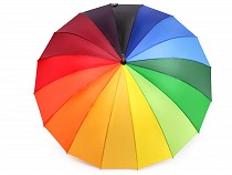 Ladies Stick Umbrella Rainbow