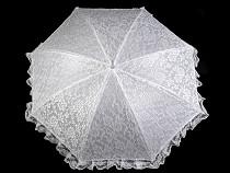 Lakodalmi esernyő csipkével