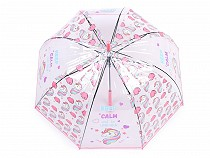 Girls Transparent Auto-open Umbrella Unicorn