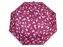 Parasolka damska składana automatyczna kwiaty