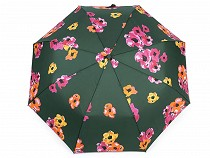 Damen Regenschirm Automatik Blumen