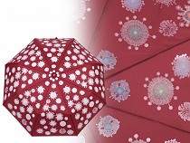 Dámský skládací vystřelovací deštník kouzelný