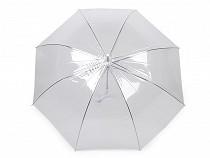 Dámský / svatební průhledný vystřelovací deštník