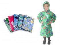 Płaszcz przeciwdeszczowy dziecięcy dinozaur, auto, króliczek, ufo