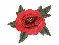 Aplicație brodată trandafir 3D