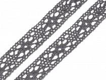 Bavlněná krajka šíře 11 mm paličkovaná