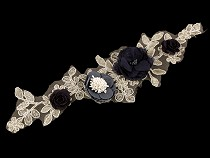 Yoke Applique / 3D Insert with Flowers 9x32.5 cm