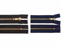 Fém / Vörösréz cipzár szélesség 4 mm hossz 10 cm