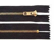 Kovový /  mosadzný zips šírka 4 mm dĺžka 18 cm nohavicový