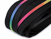 Continuous Nylon Rainbow Teeth Zipper width 3 mm
