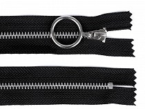 Metal Zipper width 4 mm length 20 cm with silver teeth
