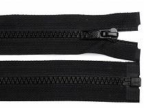 Kostený zips šírka 5 mm dĺžka 105 cm bundový čierny