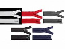 Fermoar plastic detașabil, două cursoare, lungime 95 cm