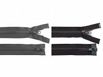 Zip kostěný 5 mm dělitelný 2 jezdce 95 cm bundový