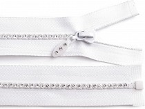 Rhinestone Plastic Zipper width 4 mm length 55 cm