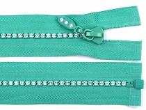Rhinestone Plastic Zipper width 4 mm length 65 cm