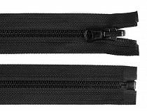 Fermeture Éclair réversible en plastique noir, largeur 5 mm, longueur 80 cm