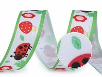 Grosgrain Ribbon / Trouser Tape width 20 mm - Bumble Bee, Ladybug