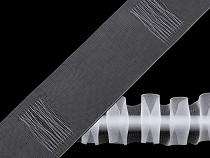 Curtain Heading Translucent width 50 mm pencil pleat drapery