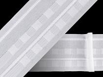 Rejansă albă cu pliuri, lățime 50 mm