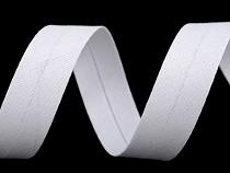 Schrägband Baumwolle Breite 18 mm verbügelt