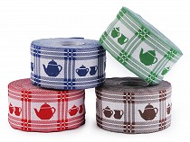 Patterned Ribbon width 50 mm Tea Pot