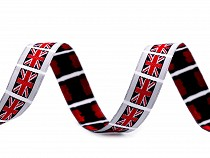 Patterned Ribbon UK, USA Flag width 16 mm