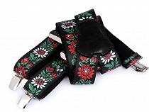 Trouser Braces / Suspenders Flok Motif width 4 cm length 120 cm