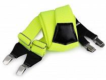 Bretele pantaloni 120 cm neon