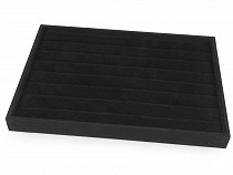 Black Suede Display Tray 24x35 cm