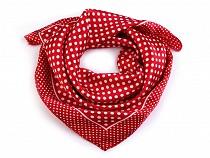 Saténový šátek s puntíky 47x47 cm