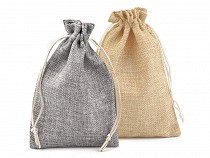 Drawstring Pouch Bag 12.5x17.5 cm Imitation Jute 2nd quality