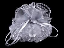 Darčekové vrecko Ø30; 32 cm organza s lurexom