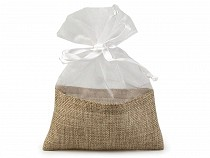 Jute Organza Gift Bag 13x18 cm