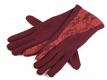 Rękawiczki damskie dzianina koronka