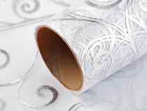 Christmas / Wedding Organza Fabric with Metallic Printing width 36 cm