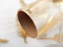 Organza s potiskem a glitry šíře 36 cm