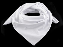 Cotton Plain Neckerchief Scarf 65x65 cm