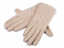 Mănuși damă cu model floral matlasat