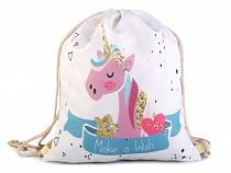 Drawstring Bag Unicorn 33x40 cm
