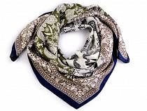 Hodvábna šatka paisley ornamenty 70x70 cm