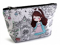 Cosmetic Bag / Case Girl 14x23 cm