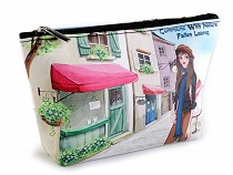 Cosmetic Bag / Case London, Paris, Prague 14x23 cm