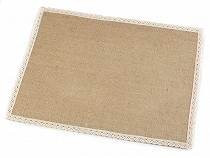Jute Placemats with Lace 30x40 cm