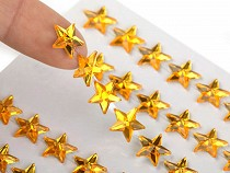 Self Adhesive Rhinestone Crystal Star Stickers Ø10 mm