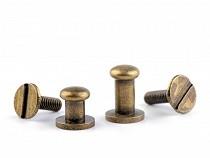 Butoni cu șurub pentru pielarie, Ø6 mm