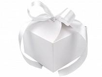 Papírová dárková krabička svatební se stuhou