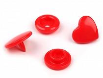 """Plastové patentky velikost 20"""" srdce"""